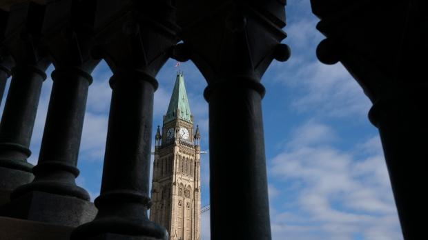 The Peace tower is seen on Tuesday, Oct. 5, 2021. (Adrian Wyld/THE CANADIAN PRESS)