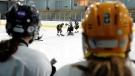Students from John McCrea Secondary School play hockey at the Walter Baker Sports Centre in Ottawa on Thursday, January 19, 2012. THE CANADIAN PRESS/Sean Kilpatrick
