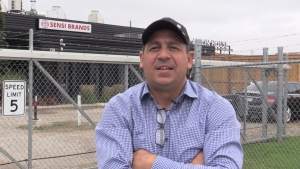 Tony Giorgi, founder and executive of Sensi Brands in St. Thomas, Ont., Oct. 6, 2021. (Brent lale / CTV News)