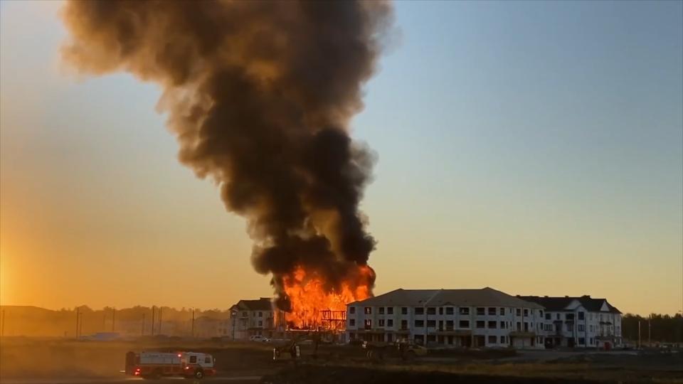 Major fire in Kanata