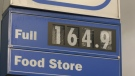 Gas price displayed at a Metro Vancouver gas station - Oct. 6, 2021