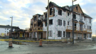 Twelve townhouses were destroyed in a fire at a Mattamy Homes development in Kanata on Wednesday, Oct. 6, 2021.