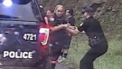 Cop saves colleague from out-of-control vehicle