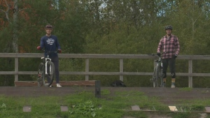 In this week's edition of Explore the Outdoors, CTV News' Will Aiello and Pure Country's Josh Corbett try their hand at some BMX trails in Sudbury. (CTV Northern Ontario)