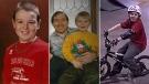 Family photos of Ian Carmichael. Middle photo shows father David Carmichael with Ian. (Source: David Carmichael)