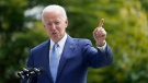 President Joe Biden speaks outside the White House in Washington, Friday, Oct. 8, 2021, during an event. (AP Photo/Susan Walsh)