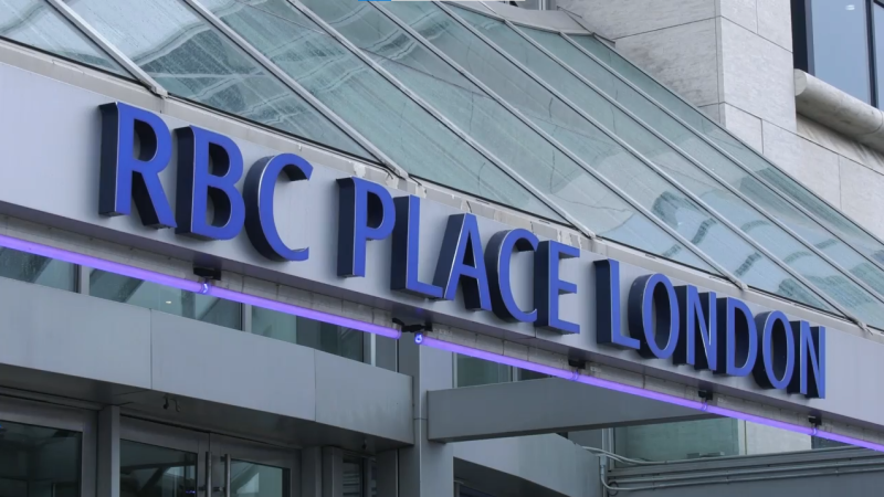 RBC Place in London, Ont. is seen Friday, Oct. 8, 2021. (Marek Sutherland / CTV News)