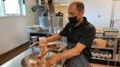 Assad Eldik working in the Mission Services kitchen, Oct. 9, 2021. (Source: Rodney Eldik)
