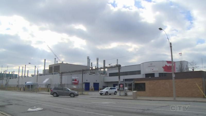 Windsor Assembly Plant on Walker Road. in Windsor, Ont. Oct. 9, 2021. (Michelle Maluske / CTV News)
