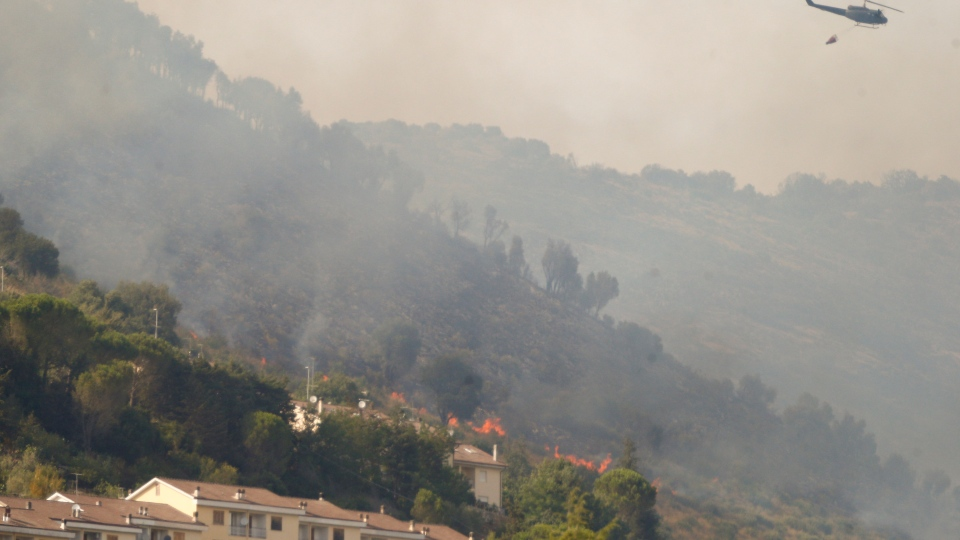 Wildfire in Italy