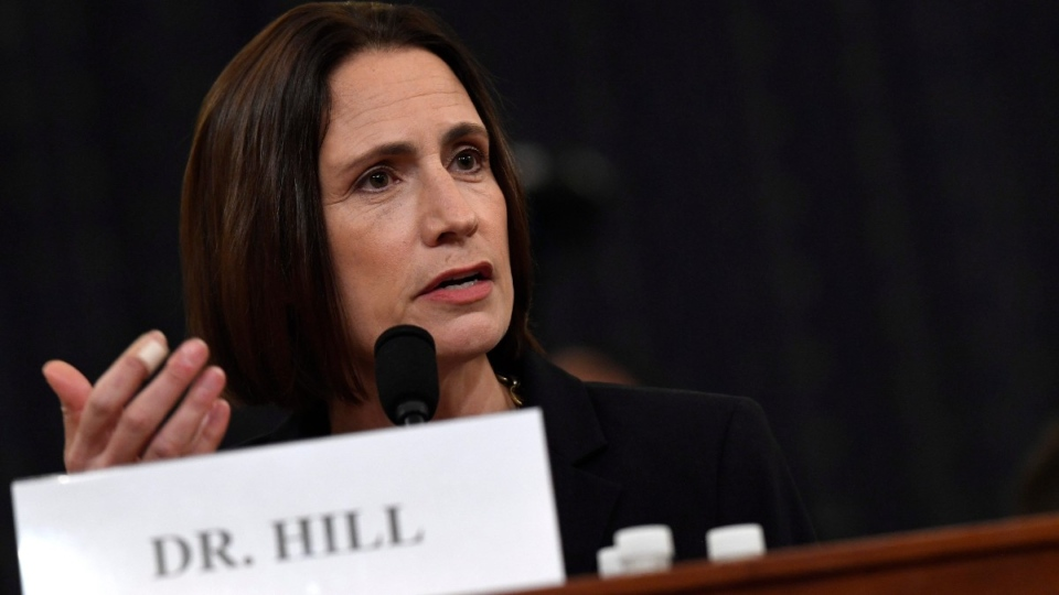 Ex-White House national security aide Fiona Hill