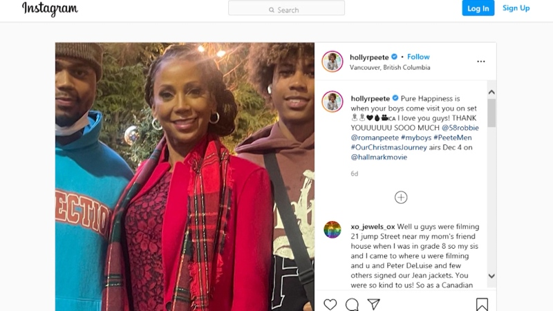 Holly Robinson Peete says her two sons were barred from boarding a flight at YVR because of the status of their ticket purchase.