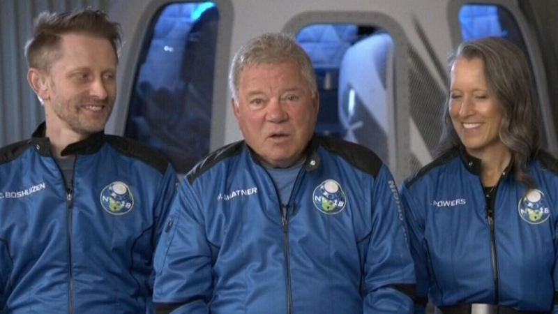 Shatner space flight delayed one day