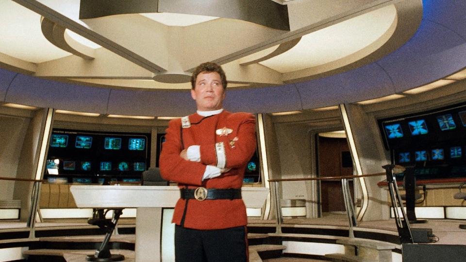 William Shatner as Capt. James T. Kirk in 1988