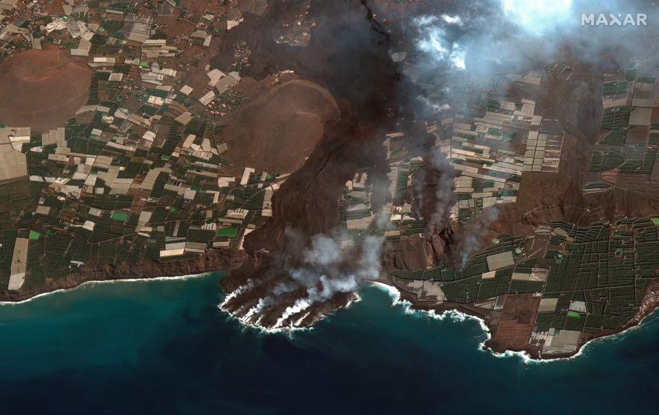 Satellite image of La Palma island
