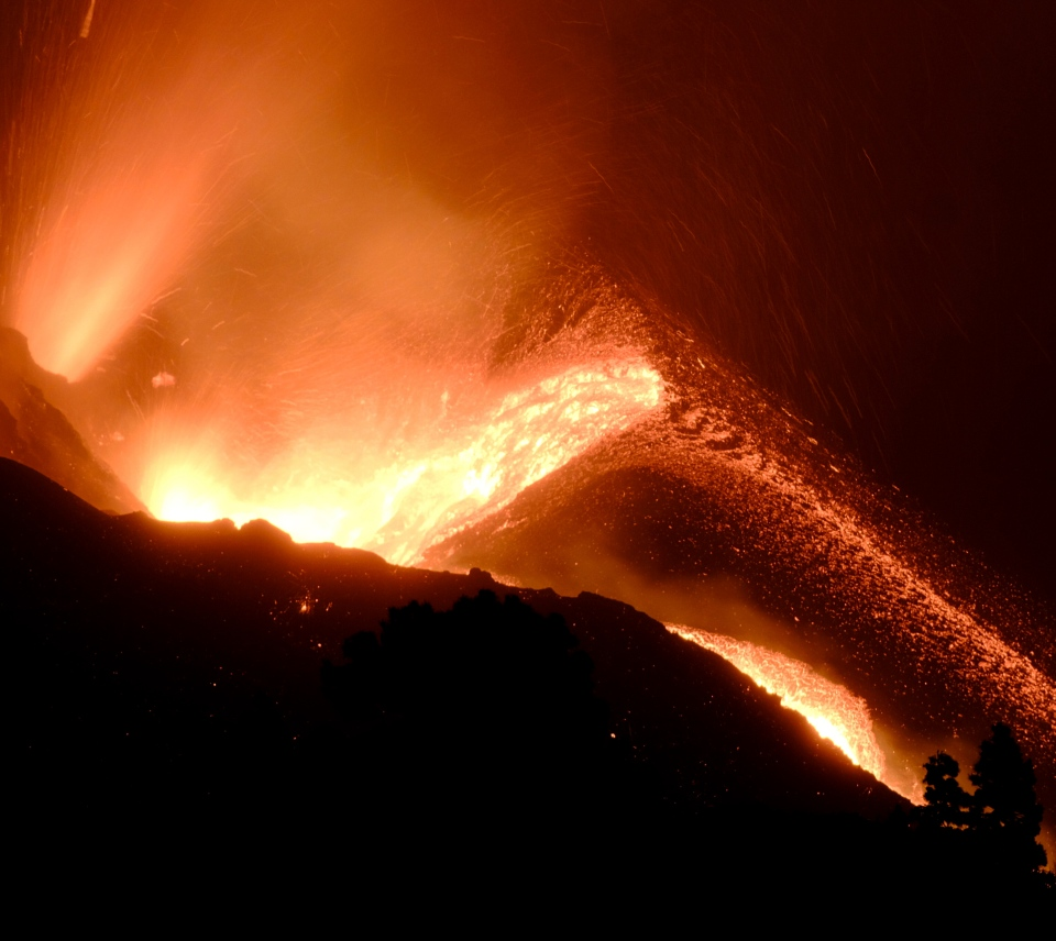Crater of volcano on La Palma, Spain