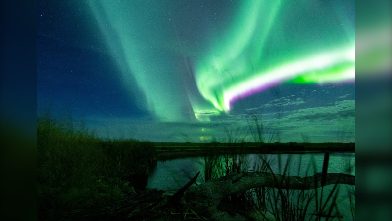 Manitoba Aurora and Astronomy Co-Creator Justin Anderson photographed the northern lights north of Brandon, Man. (Source: Justin Anderson)