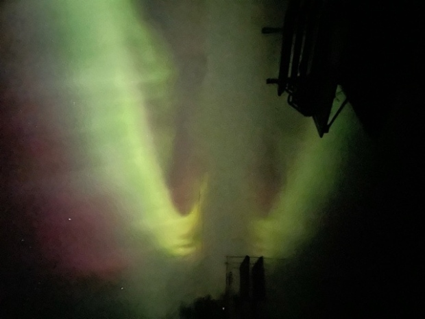 No filter needed on this photo of the northern lights taken off a dock in Bird River, Man. on Oct. 11. (Source: Shannon Bayluk)