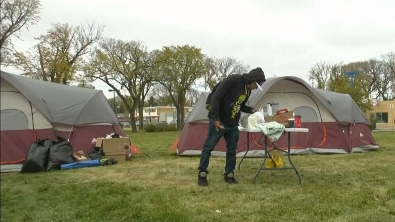 Tent village growing