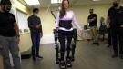 Chloë Angus tests new exoskeleton.