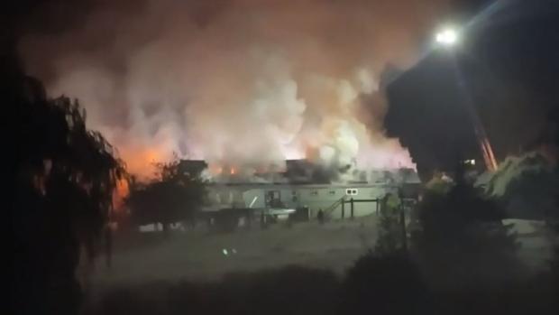 Incendio de Sooke destruye edificio comercial vacante