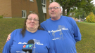 An emotional Debbie & Mike Durham say they're excited to finally be able to cross into the United States to visit Debbie's sick mother when the Canada/US border reopens. (Nate Vandermeer / CTV News Ottawa)