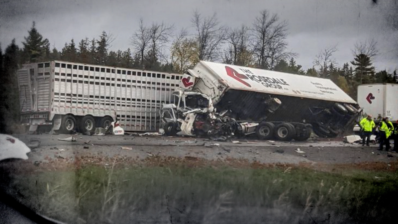 Two killed in tractor trailer crash at Kingston
