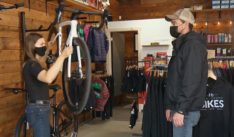 Since opening in 2013, Parry Sound Bikes has continued to grow the cycling community in town and has become a fixture for people to enjoy. (Alana Pickrell/CTV News)