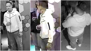 Calgary police released these images of a suspect from a fatal shooting near a downtown nightclub. (CPS handout)
