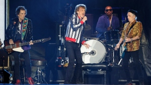 The Rolling Stones perform on Sept. 26, 2021 in St. Louis, Missouri. (Kamil Krzaczynski/AFP/Getty Images)
