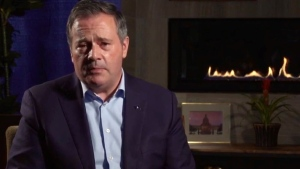 Alberta Premier Jason Kenney takes questions live on Facebook on Oct. 13, 2021 (Source: Facebook).
