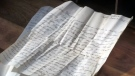 70-year-old letter discovered in old desk