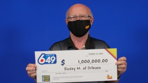 Rickey MacDonald of Orleans won the Guaranteed $1 million prize in the Aug. 25, Lotto 6/49 draw.
