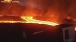 Lava river flows from Cumbre Vieja Volcano