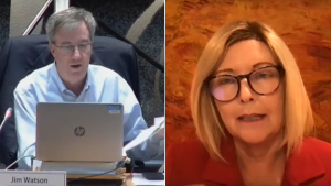 Ottawa Mayor Jim Watson apologized for cutting off Coun. Diane Deans microphone during Wednesday's council meeting. (Photo courtesy: YouTube/Ottawa City Council)