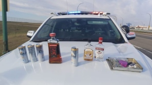 An impaired driver was allegedly caught driving into oncoming traffic on Highway 12 near Martensville on Saturday. (Corman Park Police Service/Facebook)