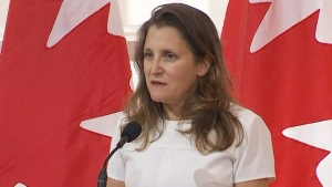 Freeland on supply chain issues