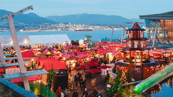 The Vancouver Christmas Market is a ticketed, outdoor even that happens yearly in Jack Poole Plaza. (Vancouver Christmas Market/Supplied)