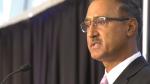 Candidate Amarjeet Sohi speaks during an Edmonton mayoral forum at Ford Hall on Sept. 23, 2021 (Sean Amato/CTV News Edmonton).