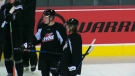 The Calgary Hitmen acquired two young prospects from Edmonton for defenceman Luke Prokop