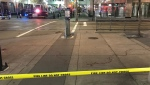 The intersection of Seventh Avenue and Third Street S.W. was closed to vehicles and pedestrians following a pair of Friday morning attacks that sent two men to hospital.