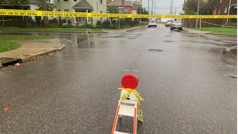 Elliott Street West between Bruce and Janette and part of Janette (just north of Elliott) will be closed for the investigation in Windsor, Ont., on Friday, Oct. 15, 2021. (Bob Bellacicco / CTV Windsor)