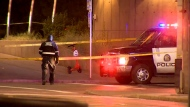 Two men were sent to hospital in life-threatening condition following stabbings near Third Street and Seventh Avenue S.W.