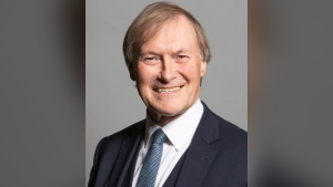This is an undated photo issued by U.K. Parliament of Conservative Member of Parliament, David Amess. (Chris McAndrew/UK Parliament via AP)