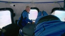 In this photo provided by Blue Origin, William Shatner, experiences weightlessness with three other passengers inside the Blue Origin capsule on Wednesday, Oct. 13, 2021. (Blue Origin via AP)