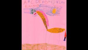 """Giraffe"" by Emma Riddell, 6 years old, Grade 2 , Chesterville Public School"