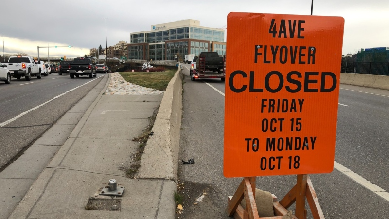 The Fourth Avenue flyover into downtown will be closed until Monday morning to accommodate a film production.