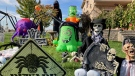 Halloween decorations outside Jennifer Richardson's home in Innisfil (KC Colby/CTV News)
