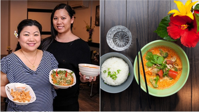 Lits Kong stands with her mother in Lao Thai in Toronto, located on Gladstone Avenue, near Queen and Dufferin. (Supplied).