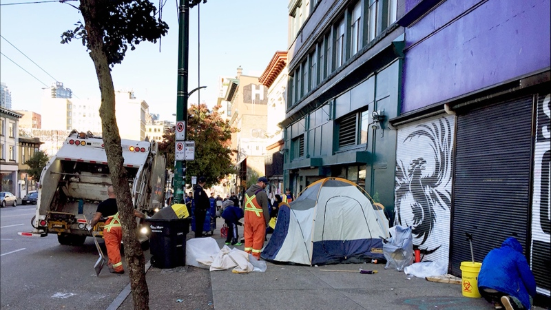 A group of Downtown Eastside residents and advocates say marginalized people's belongings are unfairly targeted during street cleanups.
